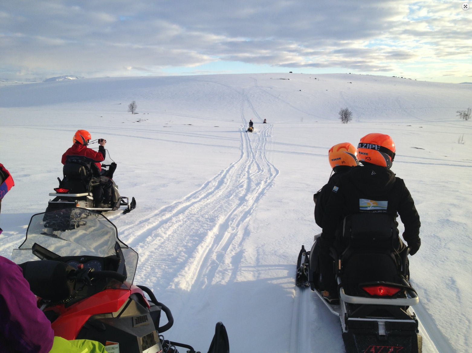 Snowscooter lapland